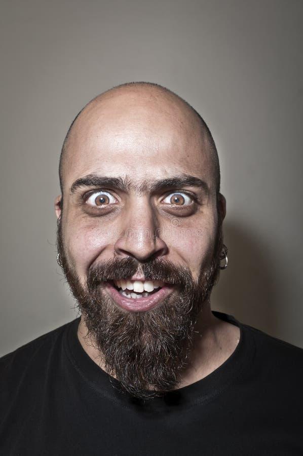 Hombre con la cara estúpida fotografía de archivo