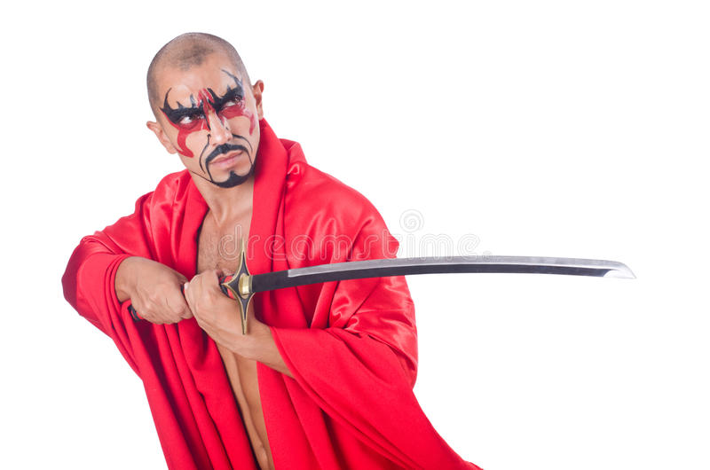 Hombre con la espada imagen de archivo