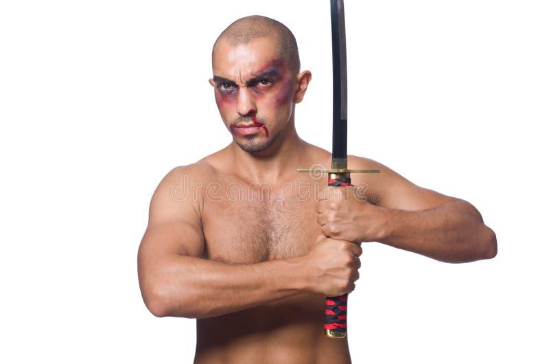 Download Hombre Con La Espada Aislada Foto de archivo - Imagen de asiático, asia: 41916260