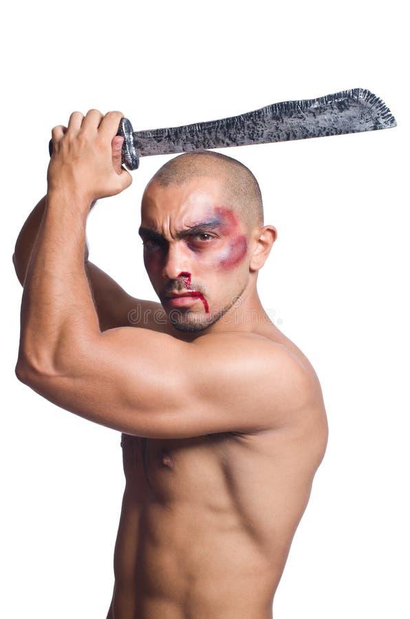 Download Hombre Con La Espada Aislada Imagen de archivo - Imagen de militar, asiático: 41916261
