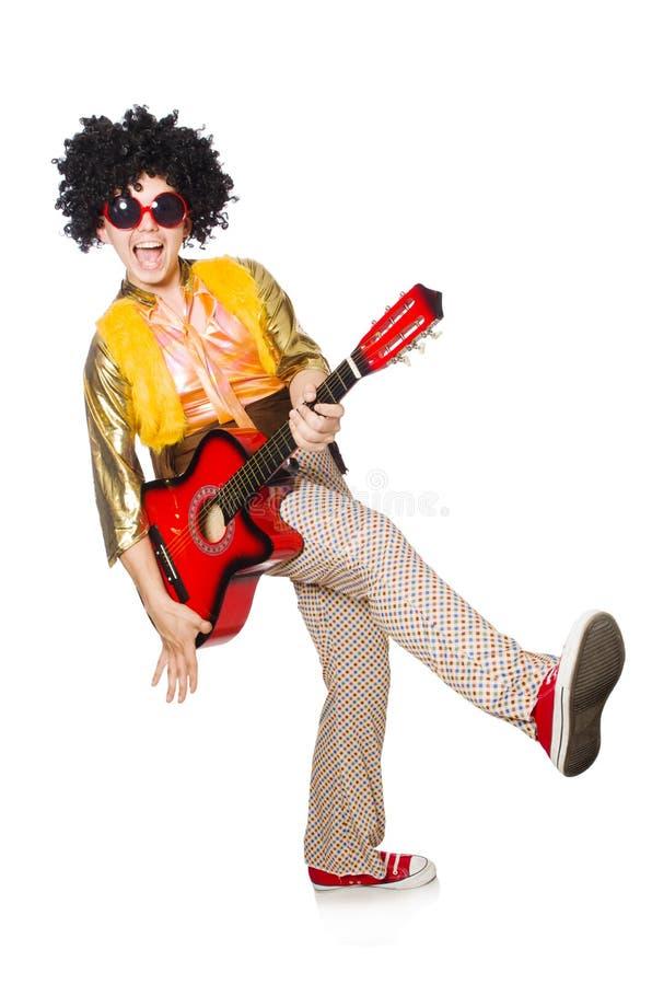 Download Hombre Con La Guitarra Aislada Imagen de archivo - Imagen de guitarra, disco: 41917415