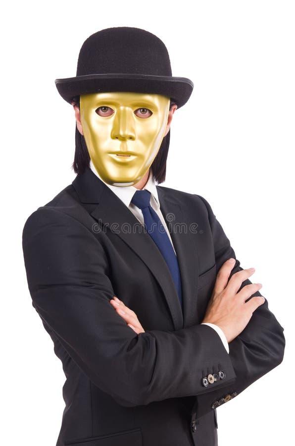 Download Hombre Con La Máscara Aislada Foto de archivo - Imagen de conceptual, espionaje: 41914130