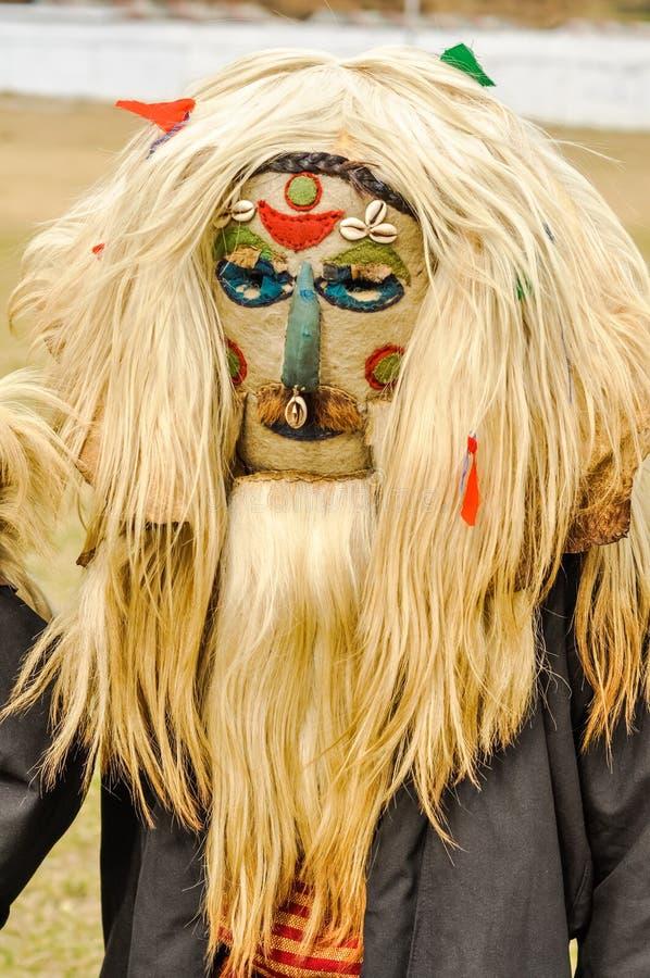Hombre con la peluca en Arunachal Pradesh fotos de archivo libres de regalías