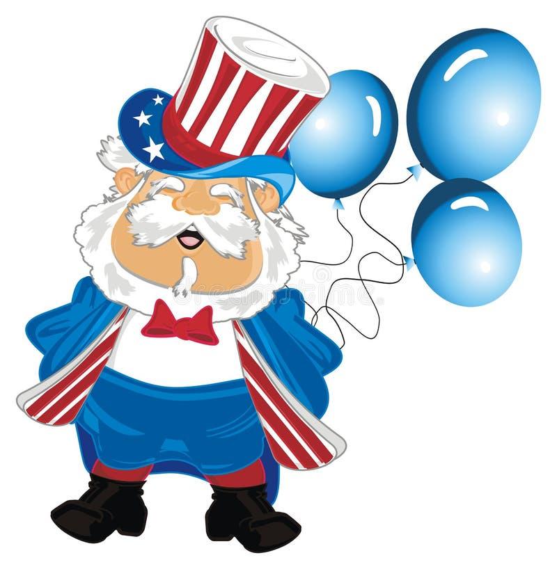 Hombre con los globos libre illustration