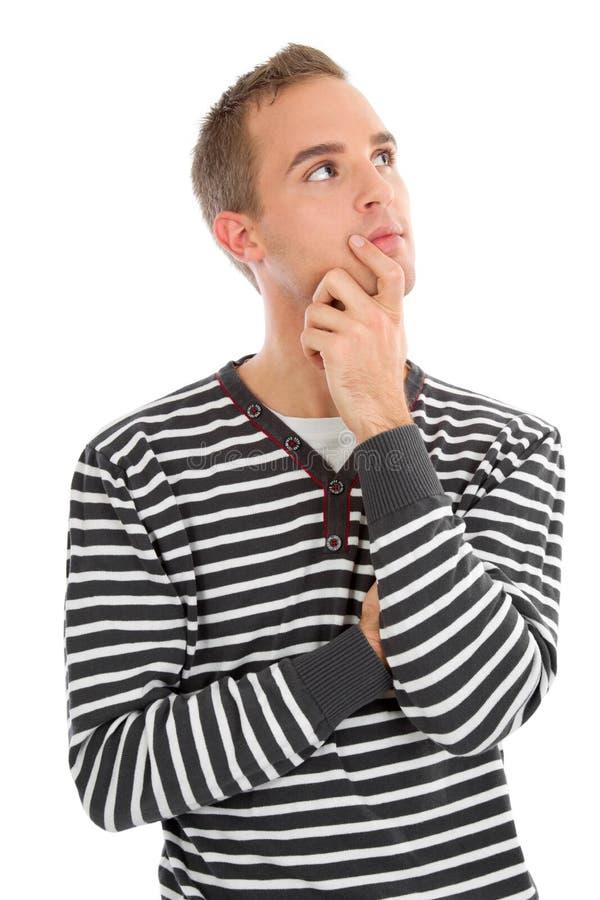 Hombre con los ojos que preguntan imagen de archivo