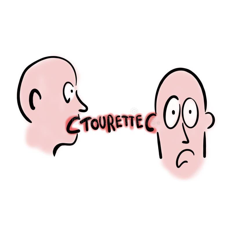 Hombre con síndrome del tourette libre illustration