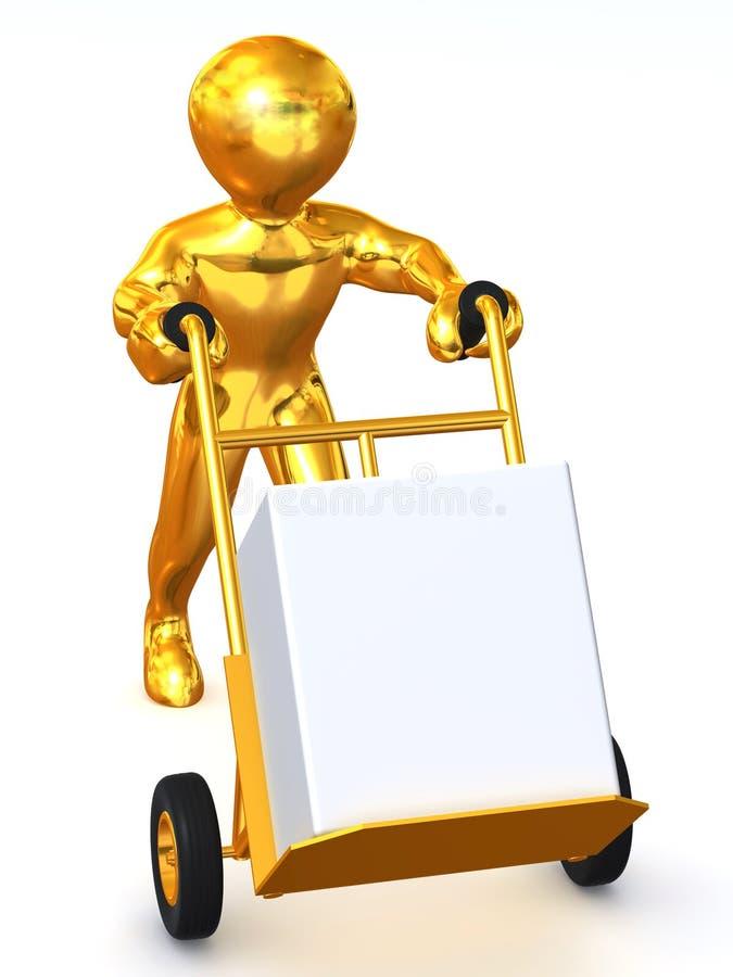 Hombre con truck.3d ilustración del vector