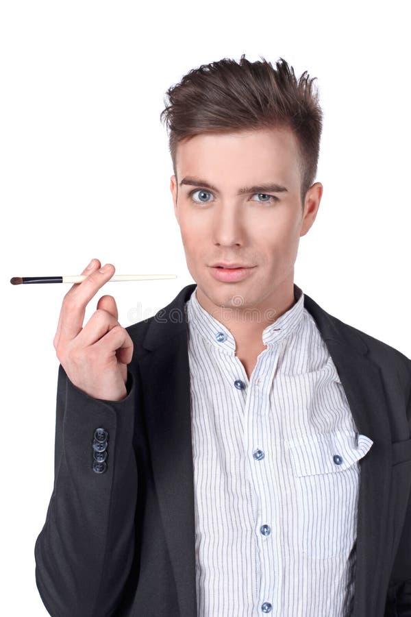 Hombre con un cepillo. fotos de archivo libres de regalías