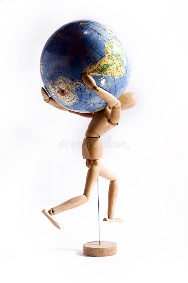 Hombre con un globo fotografía de archivo