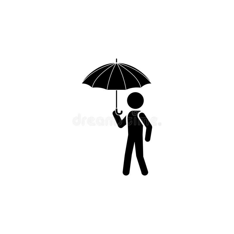 Hombre con un paraguas ilustración del vector