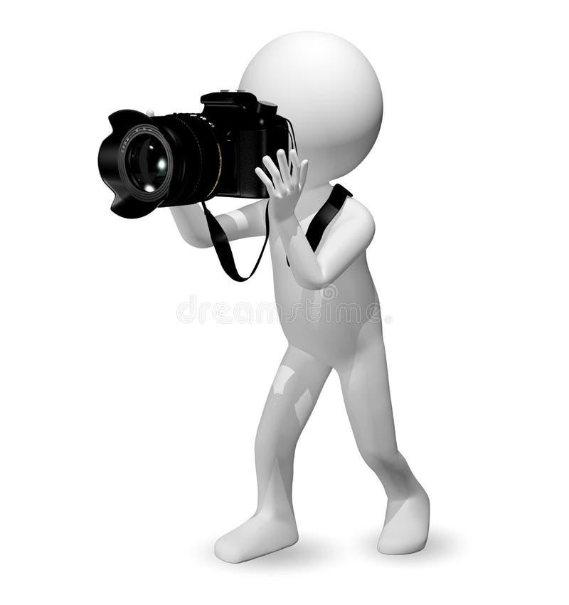 Hombre con una cámara stock de ilustración