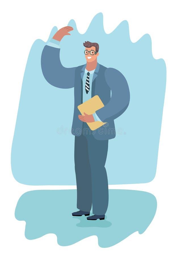 Hombre con una carpeta ilustración del vector