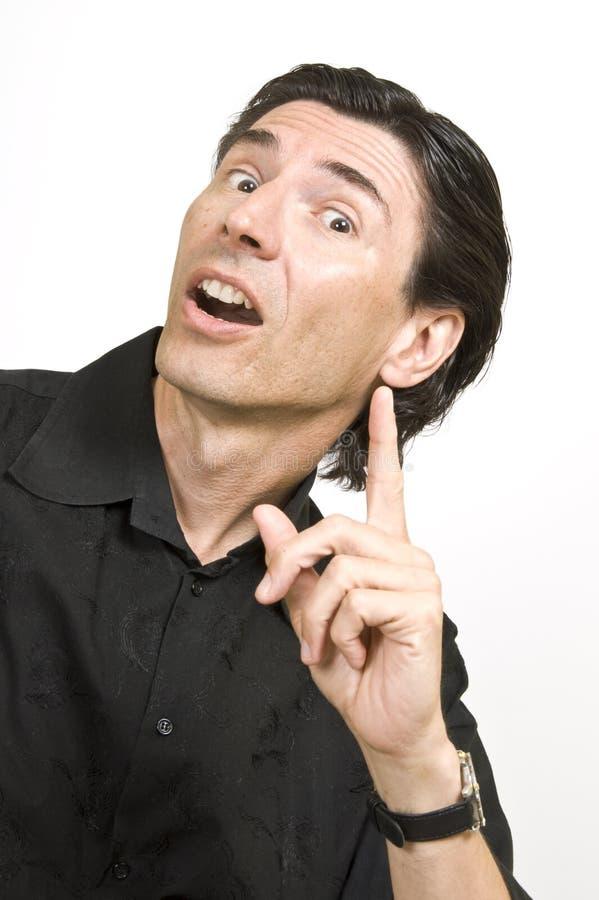 Hombre con una expresión fotografía de archivo libre de regalías