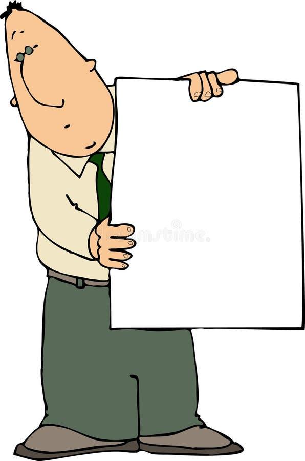 Hombre con una muestra libre illustration