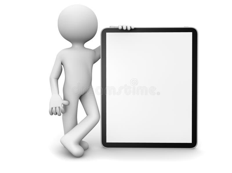 Hombre con una tablilla ilustración del vector