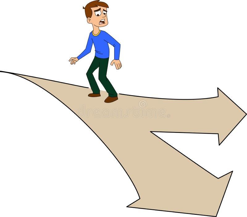 Hombre confuso stock de ilustración