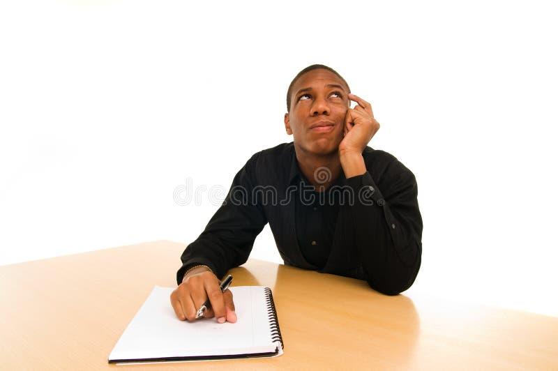 Hombre confuso fotografía de archivo