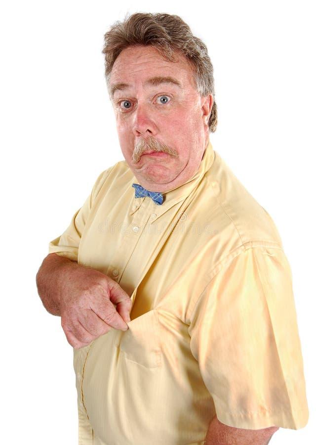 Hombre confuso de Bowtie fotografía de archivo libre de regalías