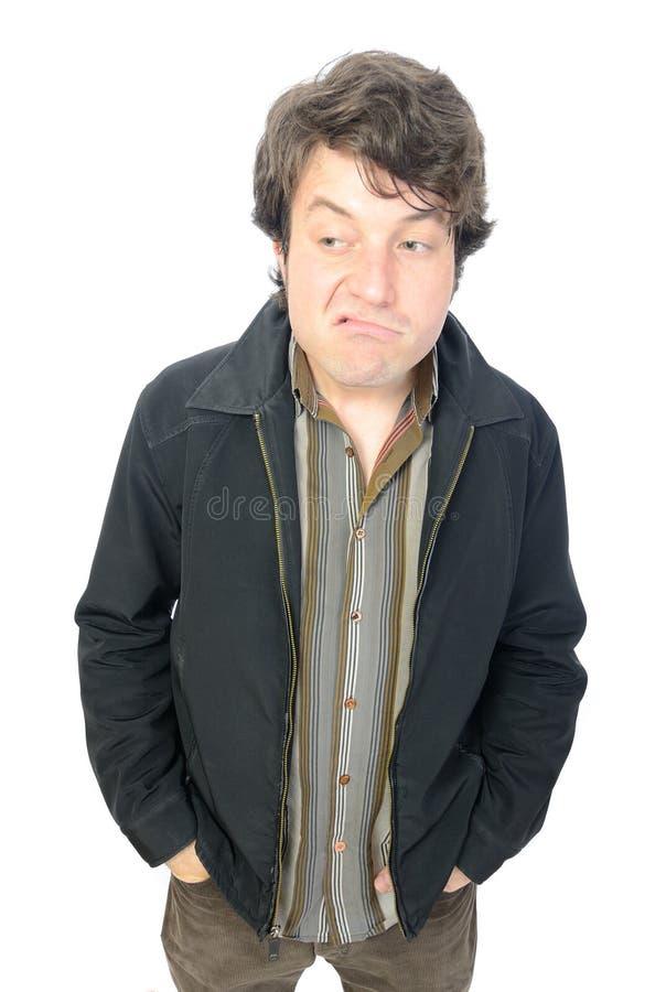 Hombre contrariedad fotografía de archivo libre de regalías