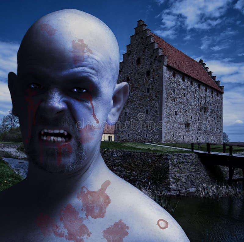 Hombre crepuscular del vampiro imagen de archivo