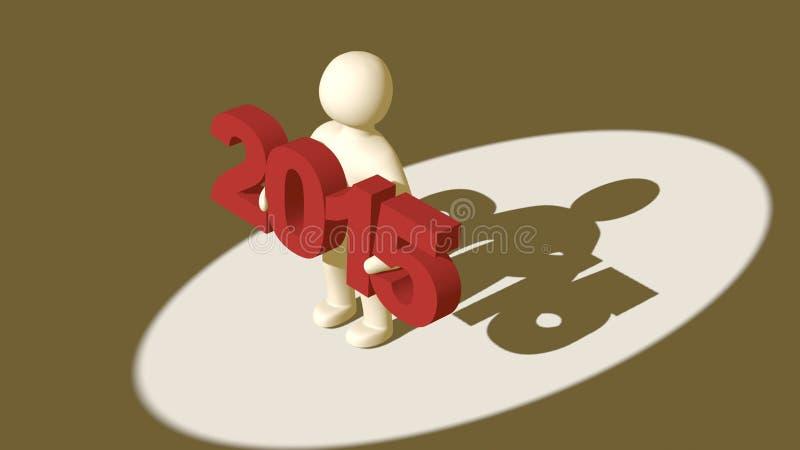 Download Hombre 3d Llevando A Cabo Figuras Tridimensionales En 2015 Stock de ilustración - Ilustración de diseño, modelo: 44852577