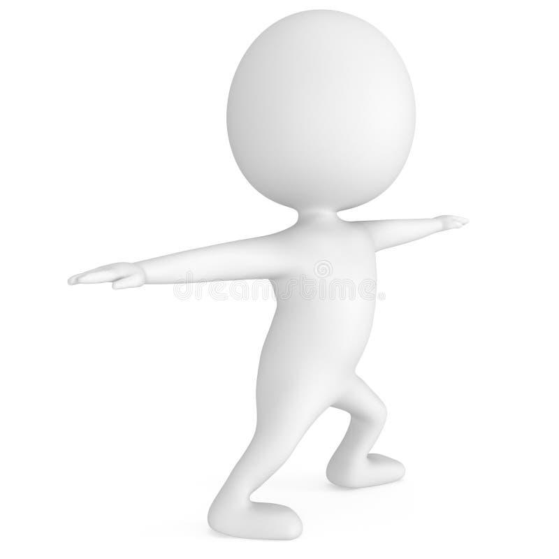 hombre 3d que hace ejercicio de la yoga ilustración del vector