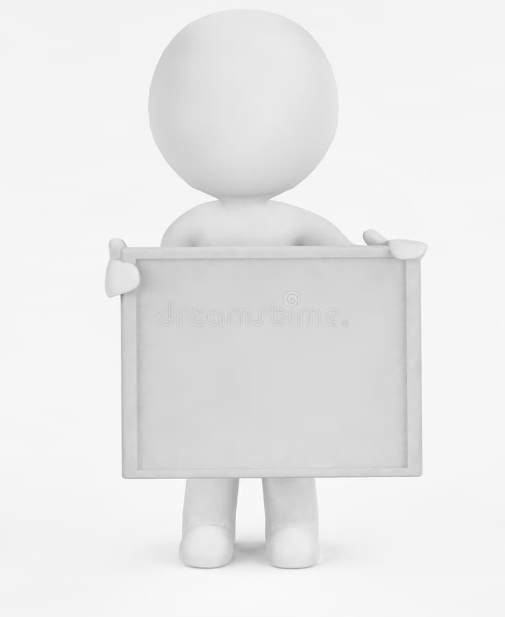 3d - tablero vacío libre illustration