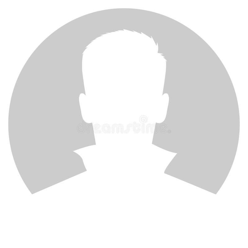 Hombre de Avatar en círculo gris stock de ilustración