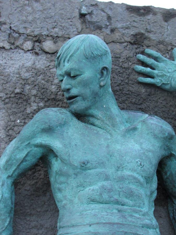 Hombre de bronce fotografía de archivo