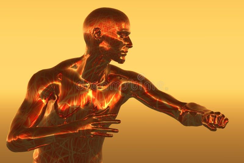 Hombre de cobre stock de ilustración