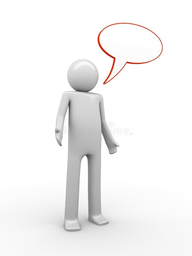 Hombre de discurso comix-labrado confuso stock de ilustración