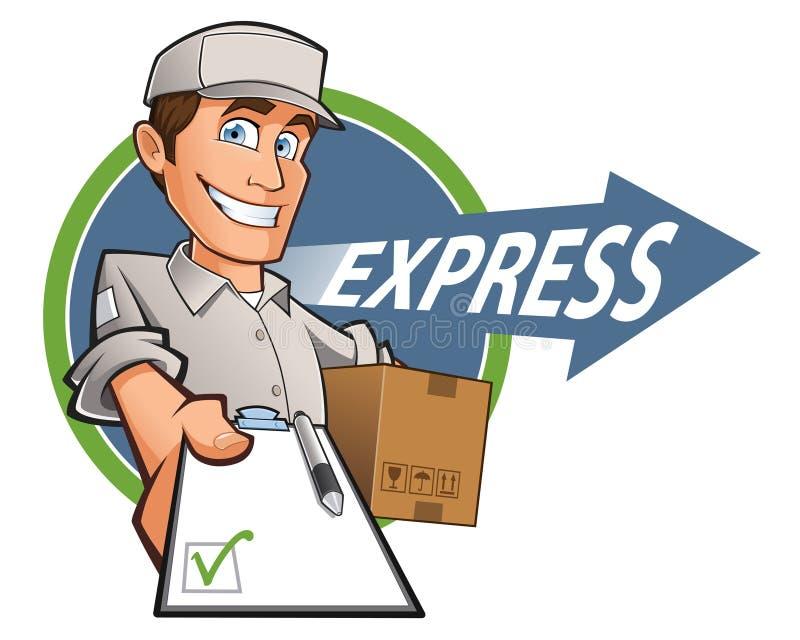 Hombre de entrega stock de ilustración