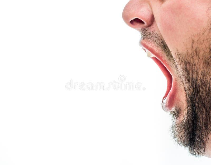 Hombre de griterío fotos de archivo