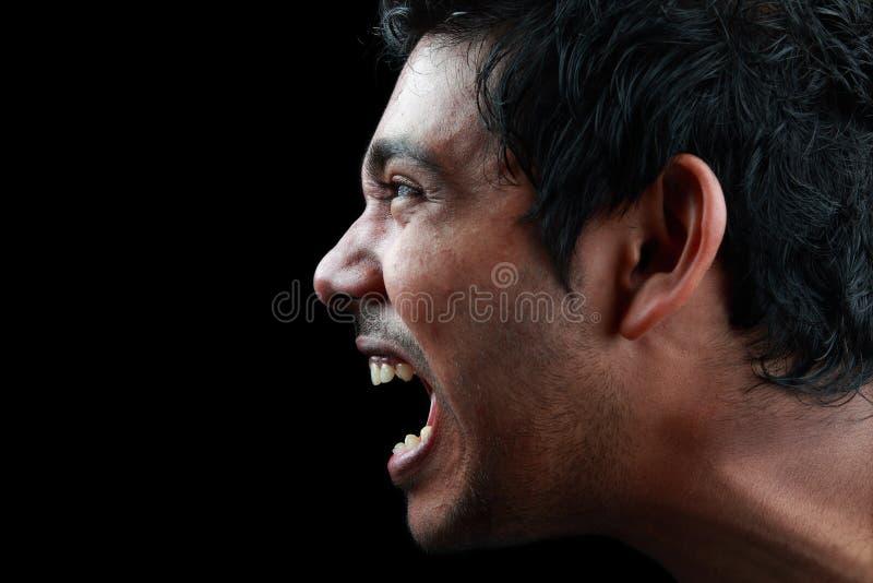 Hombre de grito fotografía de archivo