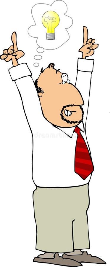Hombre de idea 2 stock de ilustración