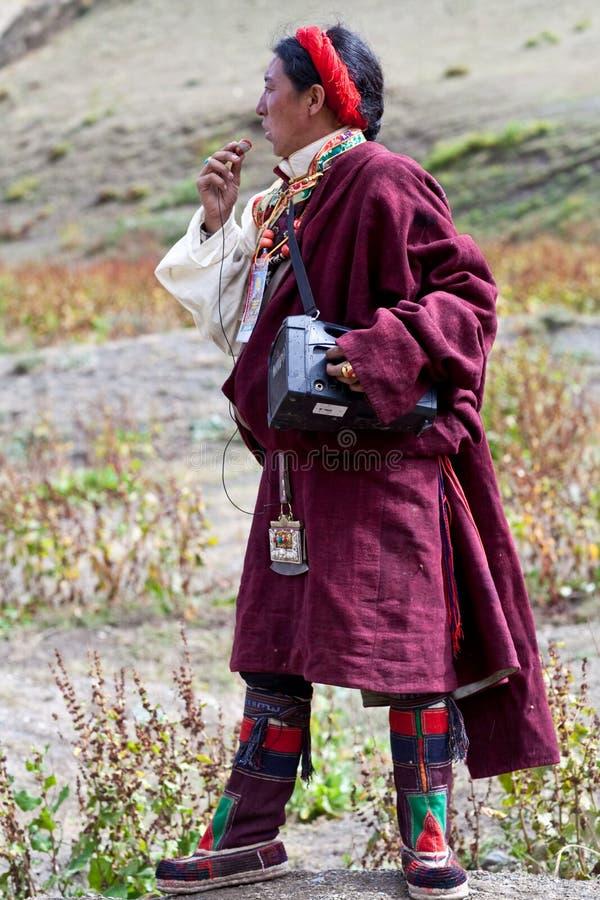 Hombre de Kkampa de Tíbet foto de archivo