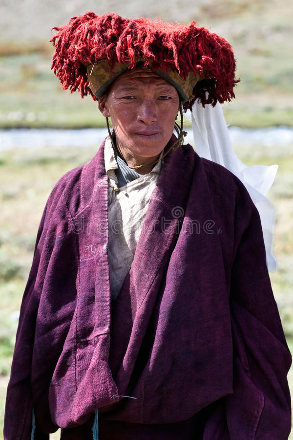 Hombre de Kkampa de Tíbet imagen de archivo