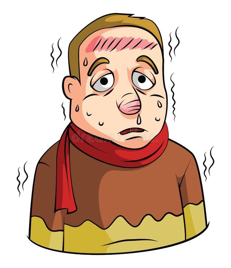 Hombre de la alta fiebre libre illustration