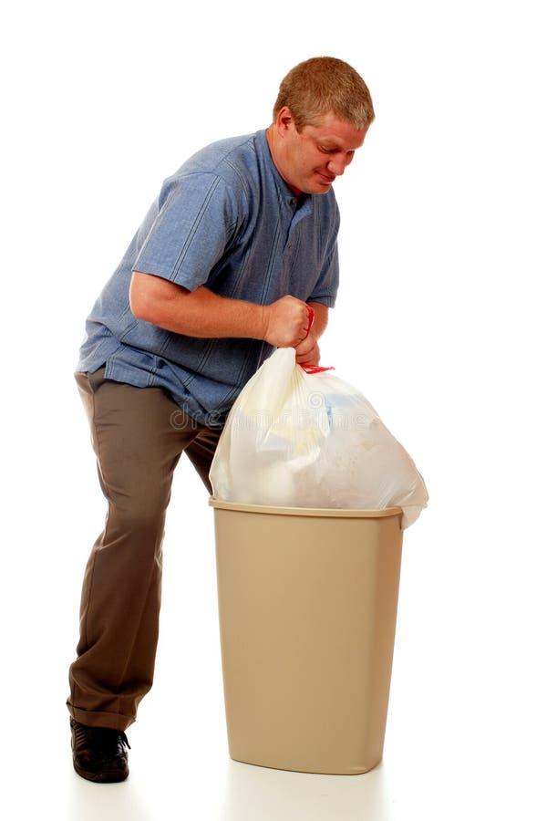 Hombre de la basura fotografía de archivo
