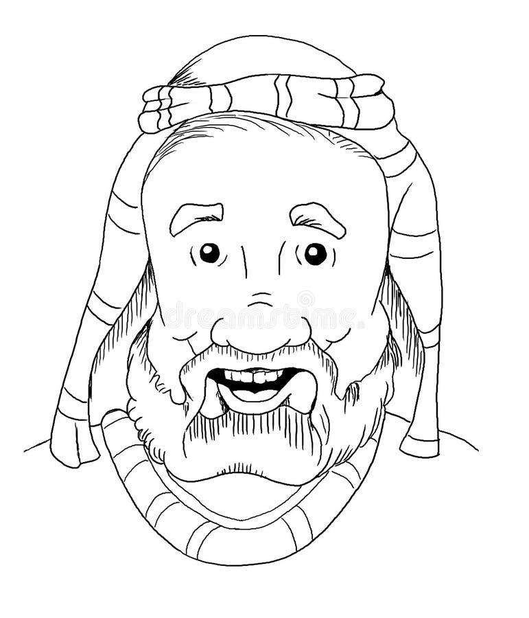 Hombre de la biblia de la historieta libre illustration