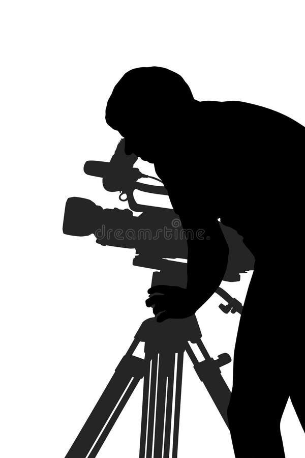 Hombre de la cámara stock de ilustración