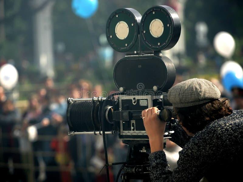 Hombre de la cámara imagen de archivo libre de regalías