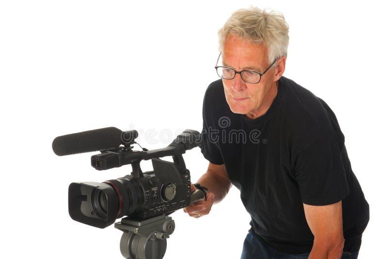 Hombre de la cámara de vídeo fotos de archivo