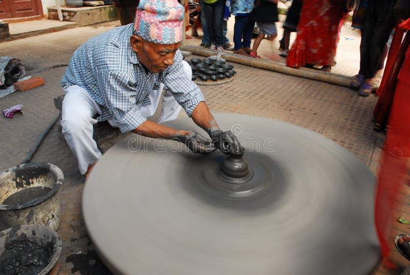 Hombre de la cerámica fotos de archivo