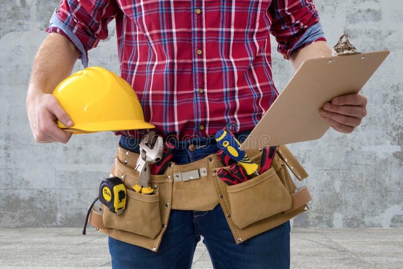 Hombre de la construcción del constructor imagenes de archivo