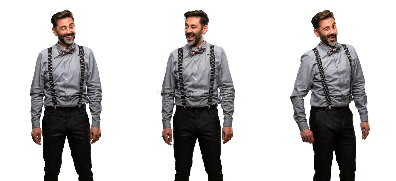 Hombre de la Edad Media que lleva un traje foto de archivo