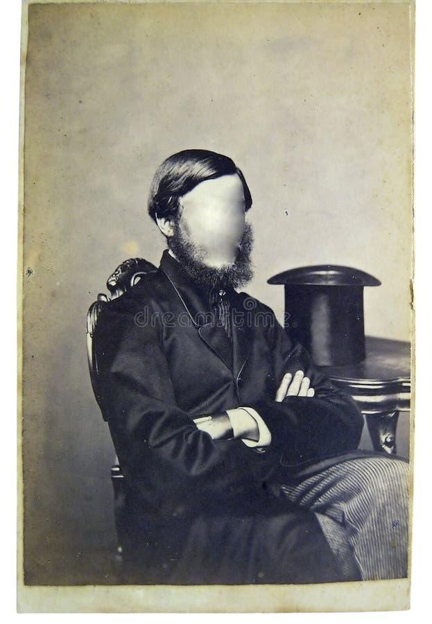 Hombre de la foto de la vendimia fotos de archivo