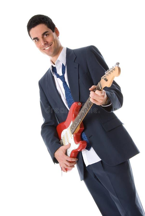 Hombre de la guitarra foto de archivo libre de regalías