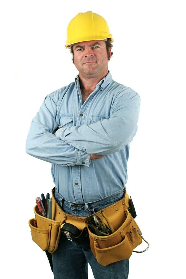 Hombre de la herramienta - serio imagen de archivo
