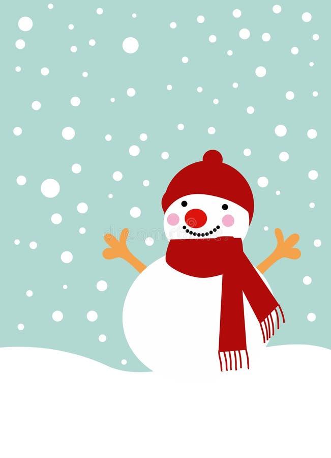 Hombre de la nieve stock de ilustración